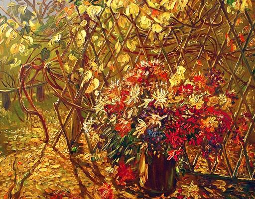 Malarstwo Jerzy Kapłański Kwiaty